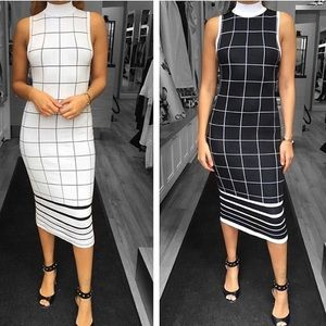 Reversible black and white dress New With Tags